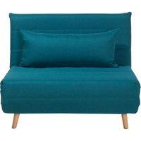 Beliani - Modern 1 Seater Fabric Sofa Bed Single Guest Bed Living Room Sea Blue Setten