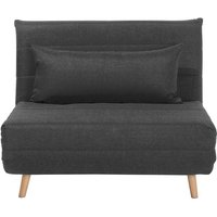Fabric Sofa Bed Dark Grey SETTEN - BELIANI