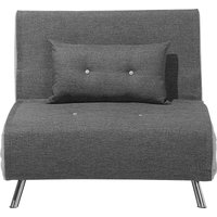 Modern 1 Seater Fabric Sofa Bed Single Guest Bed Living Room Grey Farris