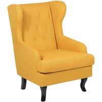 Fabric Wingback Chair Yellow ALTA - BELIANI