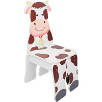 Children Kids Toddler Wooden Cow Chair (no table) TD-11324A2C - Fantasy Fields