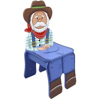 Children Kids Toddler Wooden Farmer Chair (no table) TD-11324A2F - Fantasy Fields