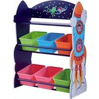 Fantasy Fields Children Outer Space Wooden Toy Storage Tidy Organiser TD-12695A