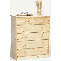 Farm Style Solid Pine With Natural Lacquer Chest - 2+4 Drawers Danish Made Quality - NETFURNITURE
