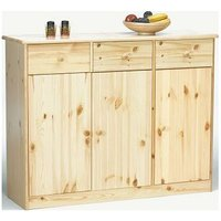 Farm Style Solid Pine With Natural Lacquer Sideboard - 3 Door 3 Drawer Danish Made - NETFURNITURE