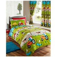 Farmyard Double Duvet Cover Set Bed Quilt Farm Animals, Childrens Bedroom - BEDMAKER