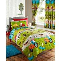 Farmyard Single Duvet Cover Set Bed Quilt Farm Animals, Childrens Bedroom