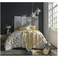 Fat Face Bedding Oriental Birds Duvet Cover Bedding Set - Ochre - Single