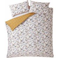 Bedding Oriental Birds Duvet Cover Bedding Set - Ochre - Super King - Fat Face