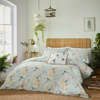 Fat Face Paradise Parrot Super King Duvet Cover Set 100% Cotton