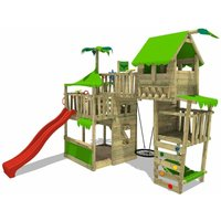Climbing frame TropicTemple Tall XXL with slide and nest swing - Fatmoose