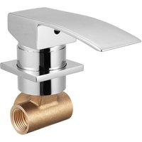 Faucet Mixer Tap Wall Mounted Bathroom Installation Washbasin Bathtub 1/2 Inch Hasaki - KINGSO