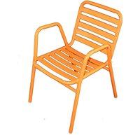 Wilsa - Fauteuil de jardin en aluminium orange