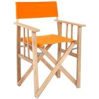 Lona - Fauteuil pliable réalisateur en eucalyptus Orange - Orange