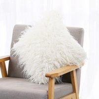 Faux Fur Pillow Case Soft Long Cushion Cover Fluffy Pillowcase With Hidden Zipper for Home Decor Bed Sofa Bedroom Car Decorative Pillowcase 18x18