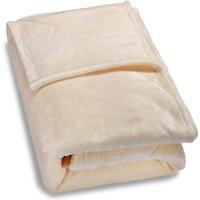 Deuba - Faux Fur Throws Fleece Blanket Soft Sofa Bed Large King Size Warm Double Cover 210x280 - beige