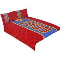 Established Double Duvet Set (One Size) (Red/Blue) - Fc Barcelona