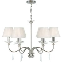 Elstead Lighting - Elstead Finsbury Park - 6 Light Multi Arm Chandelier Polished Nickel Finish - Shades Not Included, E14