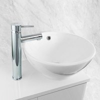 Fiona Modern Tall Deck Mounted Basin Mixer Tap
