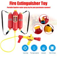 Fireman Toys Backpack Water Spraying Toy Blaster Extinguisher with Nozzle and Tank Set Children Outdoor Water Beach Toy for Kids