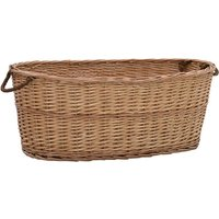 vidaXL Firewood Basket with Carrying Handles 88x57x34 cm Natural Willow - Brown