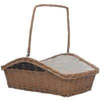 Firewood Basket with Handle 61.5x46.5x58 cm Brown Willow - Brown - Vidaxl