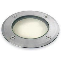 Low - 1 Light Walkover Recessed Light - Round Stainless Steel IP67 - Firstlight
