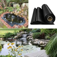 Fish Pond Liner Garden Landscaping Pool Membrane Anti-Seepage Waterproof Liner,5x5m - LIVINGANDHOME