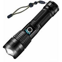 Briday - Flashlight Torch, Ultra Powerful 3000 Lumens USB Rechargeable LED Flashlight CREE XHP50 Flashlight, 5 Modes IP65 Waterproof Military