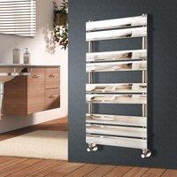 NRG - Flat Panel Heated Towel Rail Bathroom Rad Radiator Chrome 1000x450mm