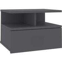 vidaXL Floating Nightstand 40x31x27 cm Chipboard Grey - Grey