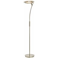 LED Floor Lamp Darion dimmable (modern) in Silver made of Metal (1 light source,) from Lindby   Standard Lamp, Uplighter