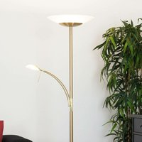 LED Floor Lamp Ilinca dimmable in White made of Metal (2 light sources, A+) from Lampenwelt   Standard Lamp, Uplighter