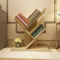 Floor Standing Bookcase Storage Display Bookshelf, Natural-3 Tier - LIVINGANDHOME