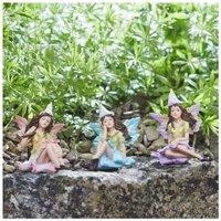 Smart Garden 3 Small Woodland Pretty Fairy Flower Nymphs Figurines