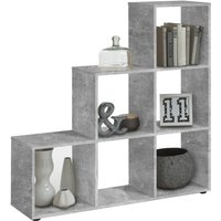 FMD Room Divider with 6 Compartments Concrete Grey