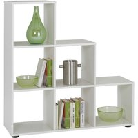 Room Divider with 6 Compartments White - FMD