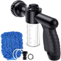 Briday - Foam Sprayer, Garden Hose Nozzle High Pressure 8 Spray Patterns Foam Blaster,Water Gun Garden for Watering Plants, Car Wash and Showering Pet