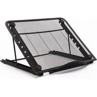 Maerex - Foldable Adjustable Laptop Table Stand Holder Portable Computer Cooling Holder black