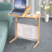Foldable Bamboo Laptop Computer Desk Bed Sofa Tray Stand Table with Storage Bag - UNHO