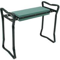 Foldable Garden Seat, Kneeling Garden Bench , Green, Deployed size: 62 x 48 x 28 cm - Sotech