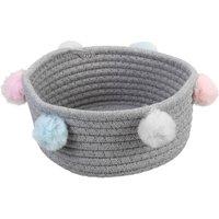 Foldable Laundry Basket Storage Toy Hamper Clothes Basket Bin Grey