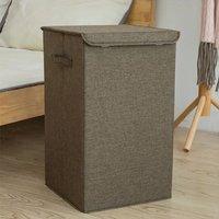 Foldable Laundry Baskets Bins Hamper Bag Washing Clothes Storage Folding Basket Coffee
