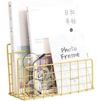 Bearsu - Folder Stand Desktop File Organizer, Vinyl Records Holder Book Desktop Shelf Magazine Rack, 3 Slot File Sorter Eye-catching Decoration for