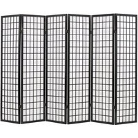 Folding 6-Panel Room Divider Japanese Style 240x170 cm Black11110-Serial number