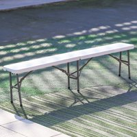 Folding Garden Outdoor Patio Beer Dining Coffee Table BBQ Bench 4 Person Chair