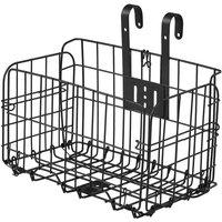 Folding Bike Basket Detchable Steel Wire Bike Handlebar Front Basket Bicycle Rear Rack Hanging Basket Cycling Cargo Carrier,model:Black Basket only