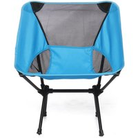 Folding Chair Large Pr Outdoor Camping Barbecue Picnic Blue Fishing