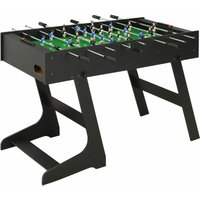 Youthup - Folding Football Table 121x61x80 cm Black