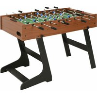Youthup - Folding Football Table 121x61x80 cm Brown
